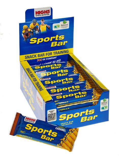High5 SportBar Box 25x55g, Caramel